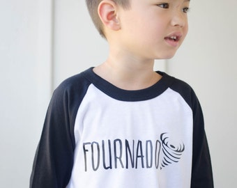 Fourth Birthday Shirt - 4th Birthday Shirt - Fournado Shirt - Four Shirt - Boys Birthday Shirt - Girls Birthday Shirt - Kids Raglan Tee