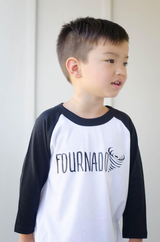 Fourth Birthday Shirt 4th Birthday Shirt Fournado Shirt