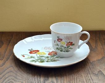 Vintage Porcelain Sandwich Plate and Cup