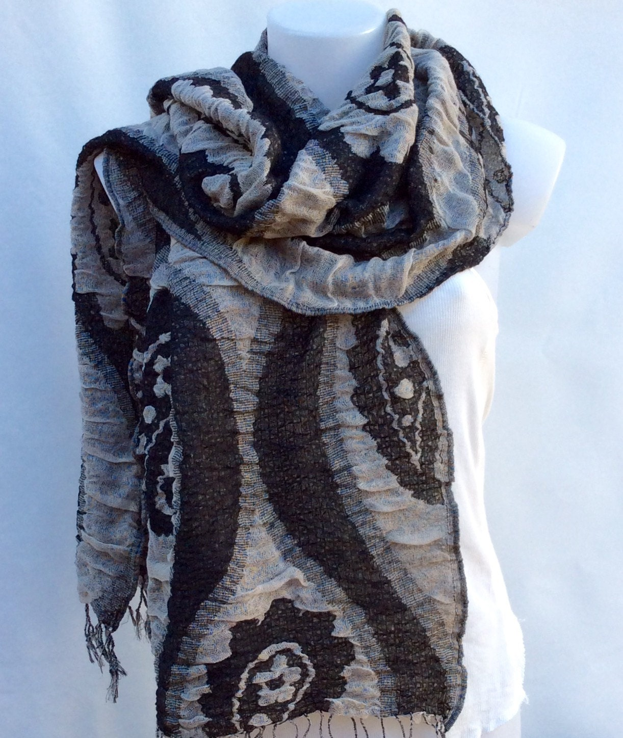 autumn winter scarf black scarf fall scarf womens scarves gift