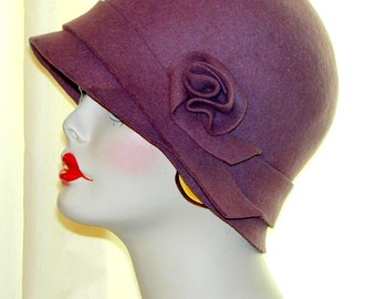 Custom handmade vintage inspired flapper cloche Downton Abbey, Miss Fisher hat