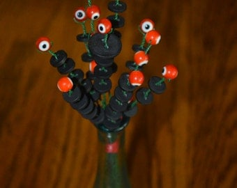 Red and Black Evil Eye Bouquet