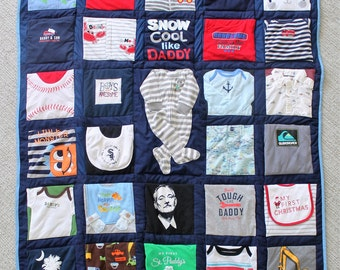 Baby clothes Quilt, Memory quilt, Custom quilt using baby clothes, Repurposed & Upcycled Baby Clothing Quilt DEPOSIT ONLY(TOTAL 160)