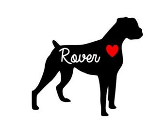 6 inch Boxer Customized Vinyl Decal