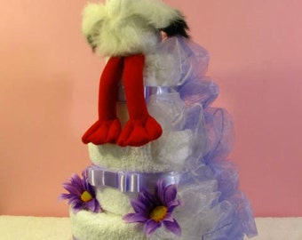 Wedding towels cake - Stork
