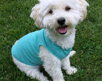 small dog tshirt, puppy clothes, small dog shirt, chihuahua clothes, yorkie clothes, dog tank top, teacup dog clothes