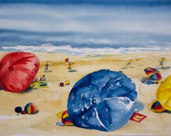 Beached Umbrellas