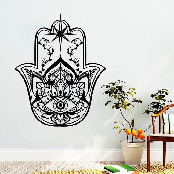 Wall Art Stickers East Rand : Hamsa wall decal fatima hands vinyl stickers east patterns