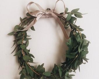 "4,  Mini 6"" Euc Wreaths"