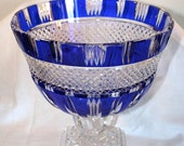 FREE SHIPPING!!! 1950s Shannon Crystal 24% Lead Crystal Made in Poland//Vintage Crystal Bowl