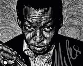 Miles Davis -- Limited Edition Print
