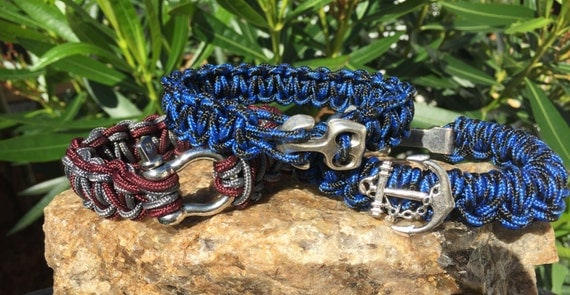 Anchor Nautical Paracord Bracelet, 3 nautical styled bracelets weaved with the thinner 275 paracord