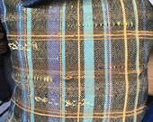 Handwoven Freestyle Pillow Cover -- Yellow -- RESERVED