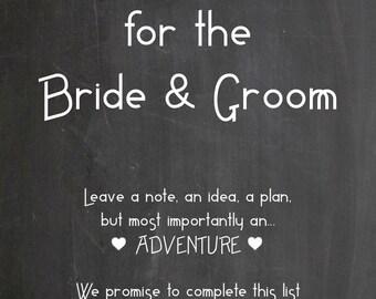 Wedding bucket list - chalkboard
