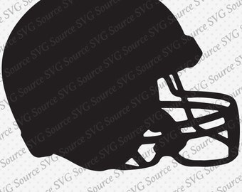 Football Helmet SVG Vector Detail Graphic Instant Download DXF PNG
