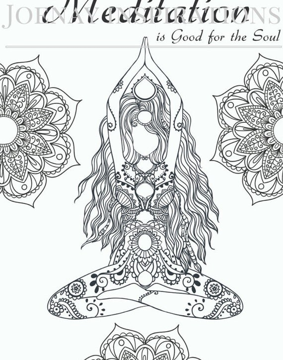 Adult Coloring Book Printable Coloring Pages, Coloring Pages, Coloring Book for Adults Instant Download Inspiration and Affirmation 1 page12