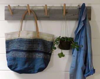 Indigo Batik Stripe Bag