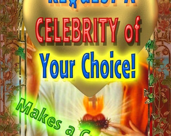 Request A Celebrity for a Saint Celebrity Prayer Candle - Any!  Proof Provided  LIMITED TIME!
