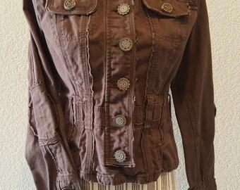 Rustic Brown Steampunk Jacket