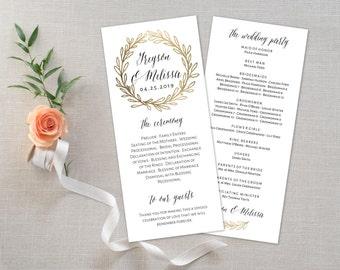 Wedding Program Editable Template