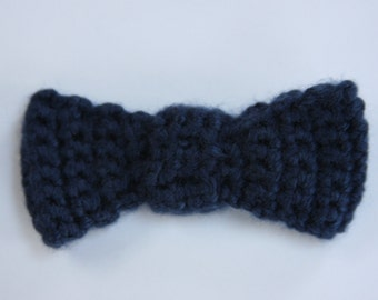 Mini Crochet Bow Hair Clip