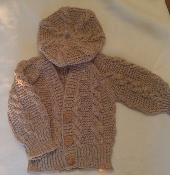 Knit Baby Sweater Set with Beret 2 Piece: Little Irish