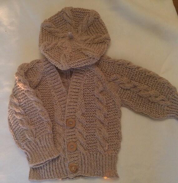 Irish Beret Knitting Pattern : Knit Baby Sweater Set with Beret 2 Piece: Little Irish