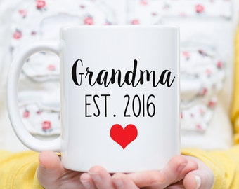 Grandma Mug, Grandma Gift, Grandma Coffee Cup, New Grandma, Baby Reveal, Pregnancy Announcement Mug,  Mother's Day Gift, Soon to be Grandma