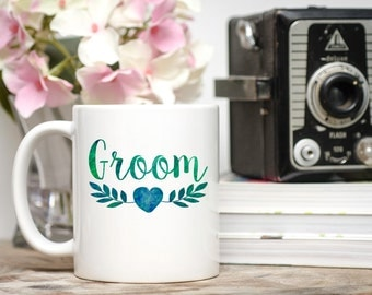 Groom Mug, Groom Coffee Cup, Groom Gift, Gift for Groom, Wedding Gift, Engagement Gift, Engagement Mug, Engagement Coffee Cup, Engaged Mug