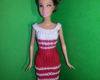 Handmade dress for a Barbie doll