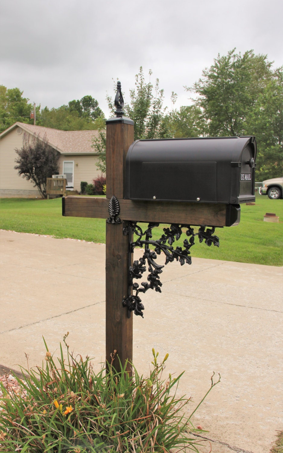 wrought iron mailbox post acorn pattern wrought iron mailbox post dress up kit mailbox 1666