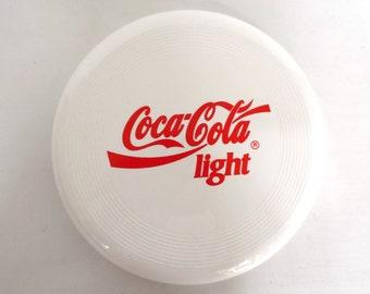 Frisbee, Coca Cola Frisbee, Vintage Coca Cola Light Frisbee. Coca Cola Collectibles. #646G96K11