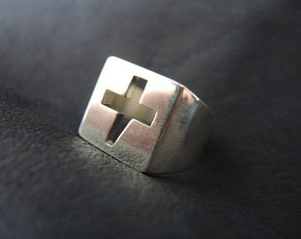 Handmade Russian Tattoo Ring Sterling Silver