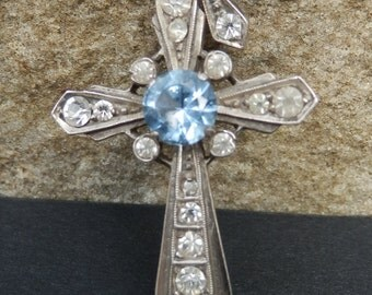 French vintage silver cross