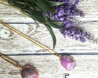 Agate Natural Necklace // Boho Jewelry // Ethnic and Gypsy Look