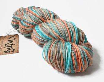 Hand Dyed Yarn - Hand Dyed Sock Yarn - Superwash Merino Wool in 'Valhalla'