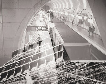 Digital Print of Paris - Double Exposure
