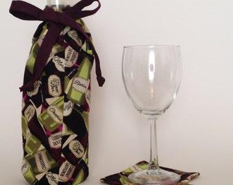 Wine Bag, wine bottle sack, wine bottle carrier, wine bottle tote, wine  bottle bag, wine sack, wine carrier, wine tote