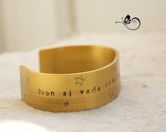 "Personalized Bracelet-""one sees clearly only with the heart""-Al/bangle/little Prince"