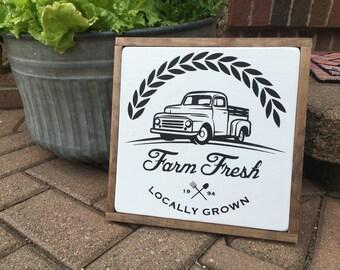Farm Fresh Painted Sign; Farmers Market Sign; Farmhouse Sign; Farmhouse Decor