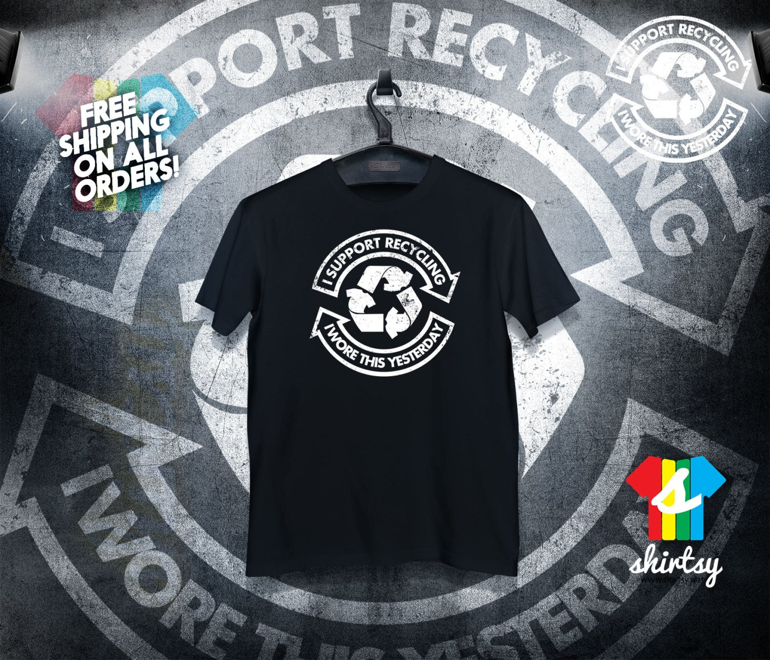 Support Recycling Tshirt Tumblr Shirt Hipster Instagram Shirt Graphic Tee Gift