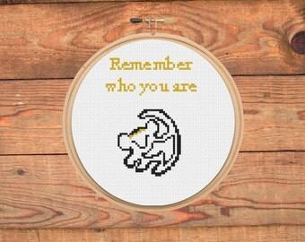Simba Quote Cross-Stitch (pdf pattern)
