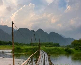 Bamboo Bridge landscape photography print
