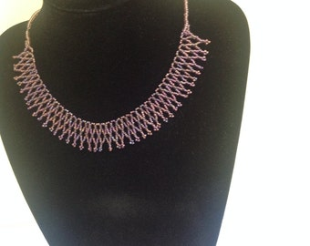 Lacy collar beaded necklace