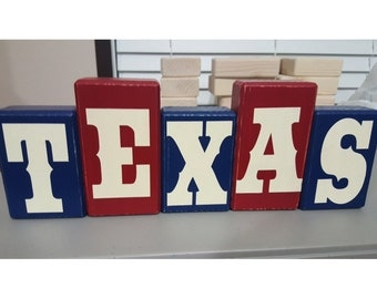 Texas Wood Block Set - NEW LOOK!
