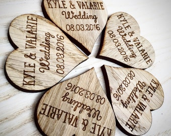 Custom Wedding Favors - Heart Favors - Large Wooden Hearts - Heart Decor - Heart Decorations - Wooden Hearts - Wedding Decorations, 16TD