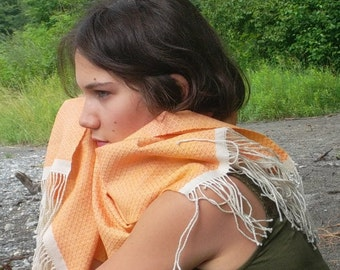 woven hand, baby camel, and silk, Merino Wool scarf