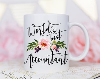Accountant Gifts, Worlds Best Accountant, Accountant Mug, Gifts for Accountants, Accountant Coffee Mug, Coffee Mug, Worlds Best
