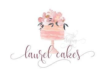 Premade Logo, Graphic Design, Business Logo, Logo Design, Watercolor Logo, Bakery Logo