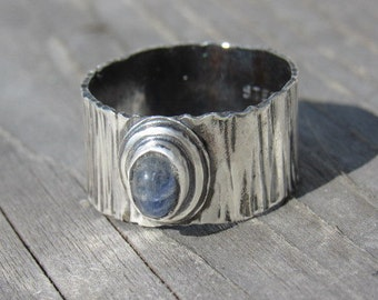Antique Moonstone Tree Sterling Ring Size 8.5
